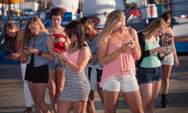 Distracted Girls Texting